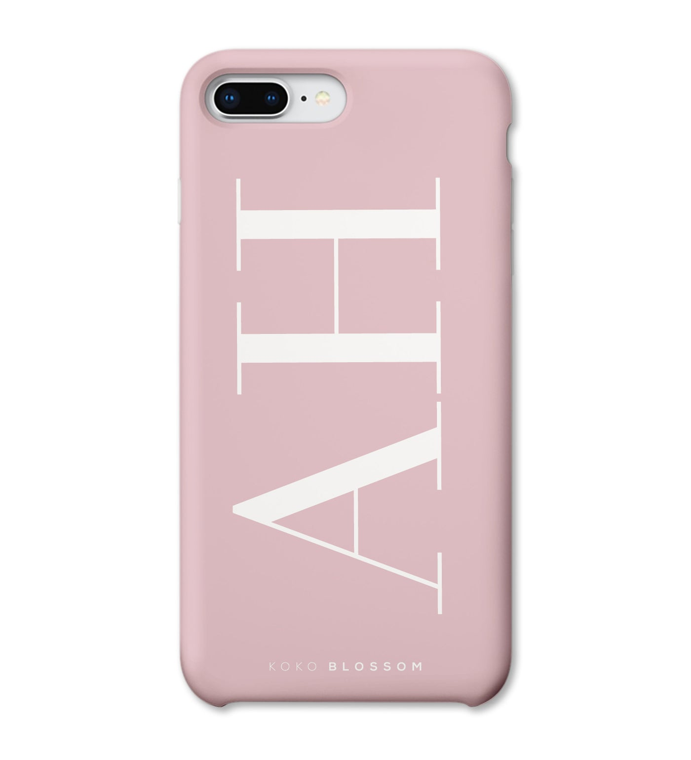 Personalised Phone Case | Large Initials Rose Pink