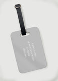Large Initials Luggage Tag in Grey