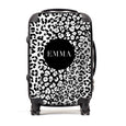 Personalised Suitcase | Monochrome Leopard