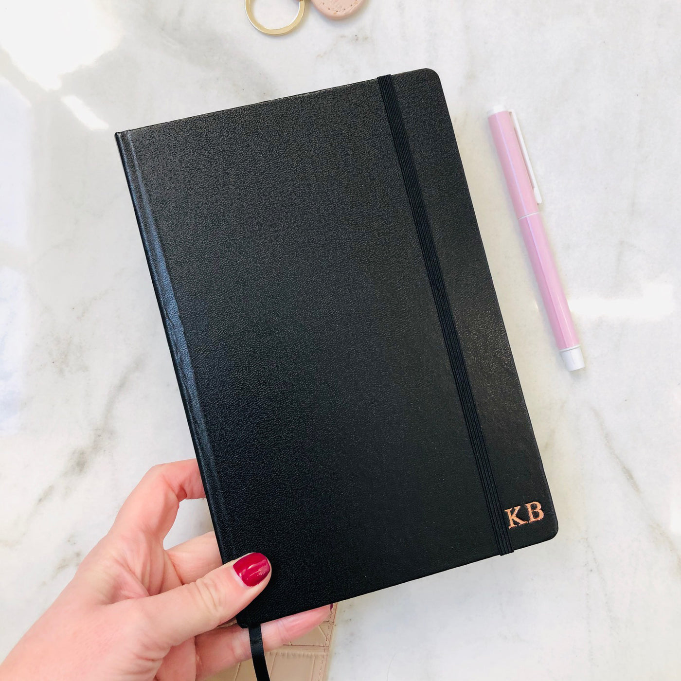 Monogram Notebook in Black
