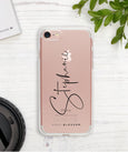 Clear Signature Phone Case