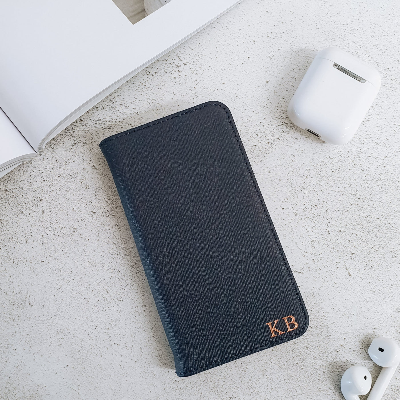 Navy blue wallet case