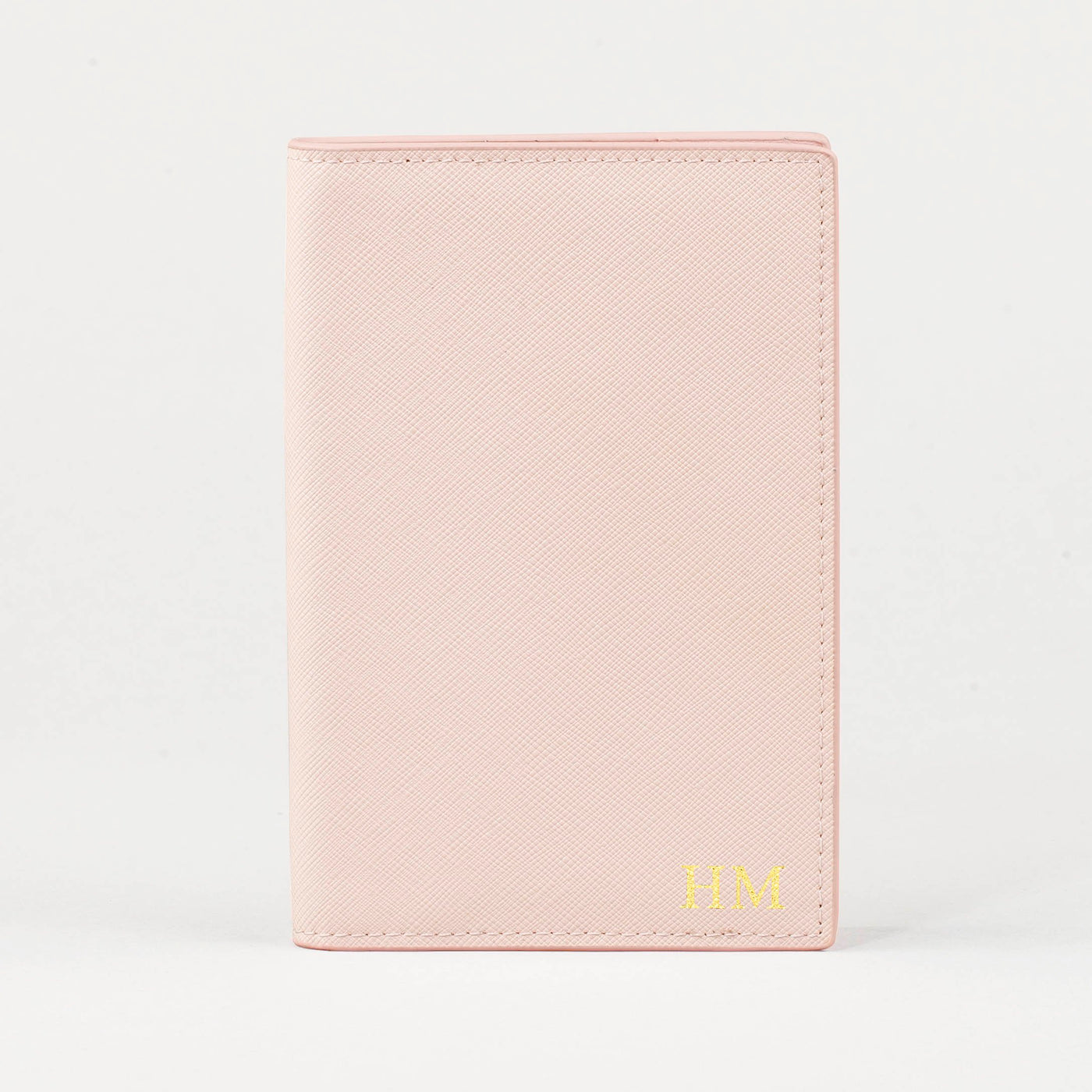 Personalised Leather Passport Cover - Nude