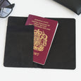 Personalised Passport Holder | Black Marble