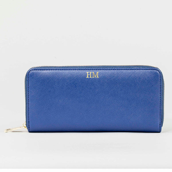 Personalised Purse in Blue