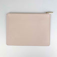 Personalised Saffiano Leather Clutch Bag in Blush