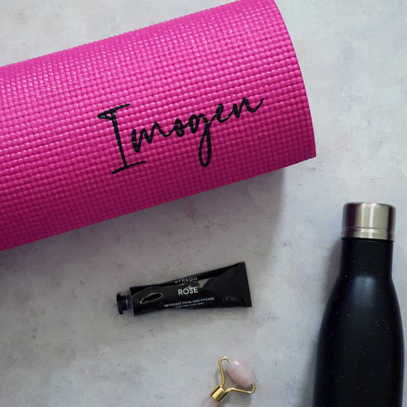 Personalised Yoga Mat - Hot Pink