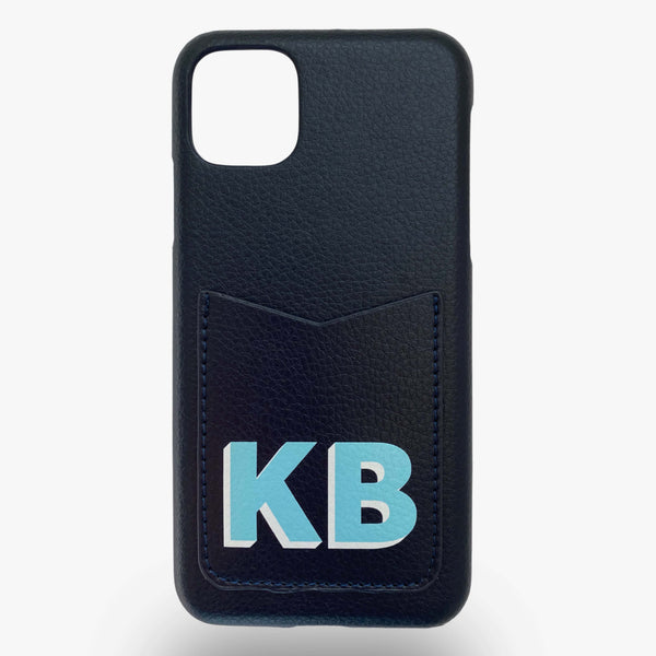 Dropshadow Pocket Phone Case in Navy