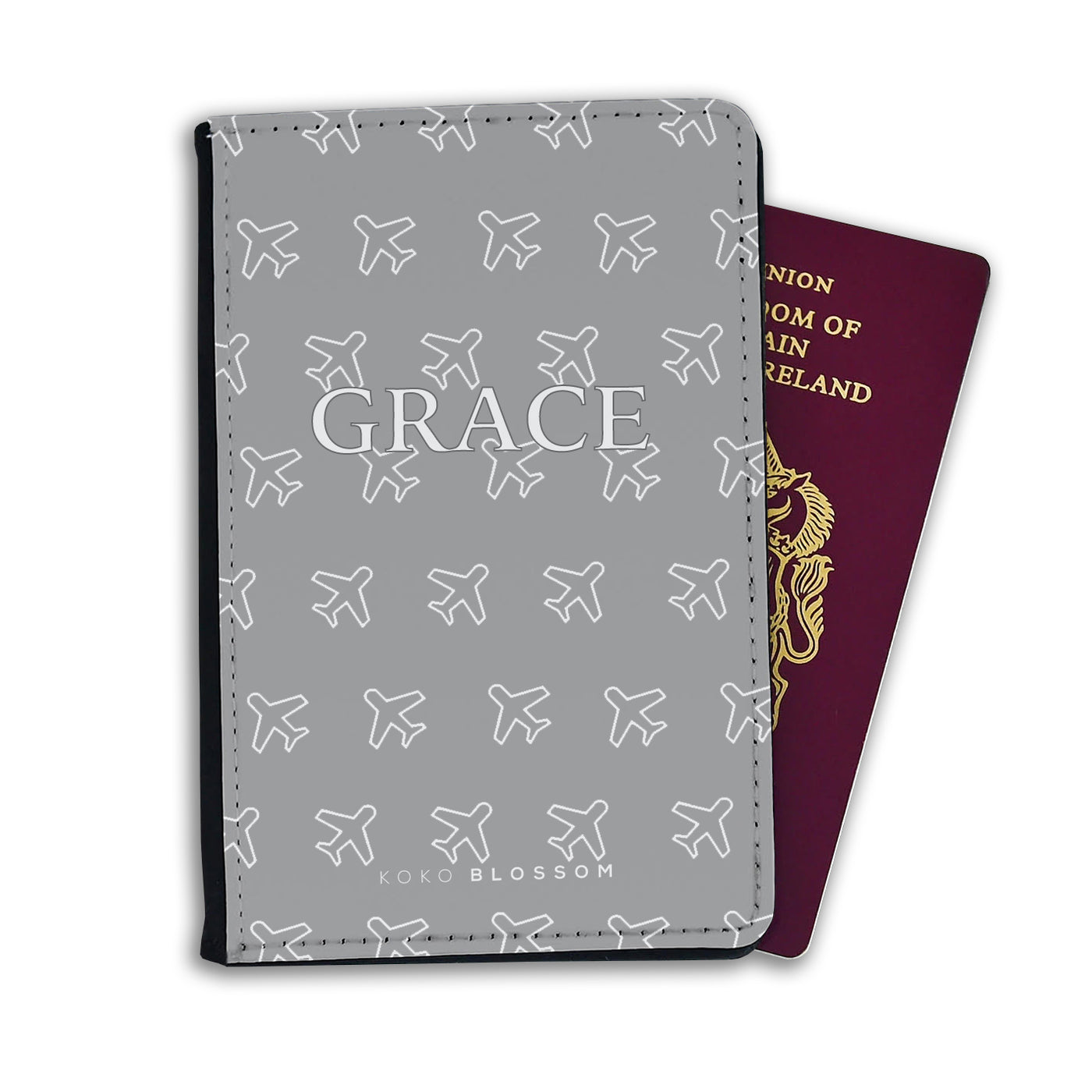 Kids Personalised Passport | Grey Fly Away