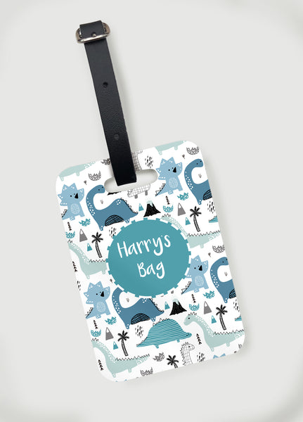 Dino Land Luggage Tag