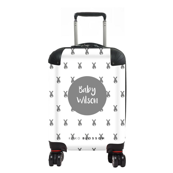 Personalised Baby Suitcase | Bunny