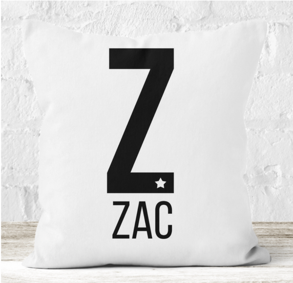 Personalised Cushion | Large Initial Alphabet