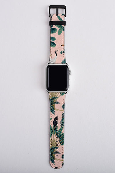Floral apple watch strap