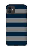 Personalised Striped Phone Case | Navy & Grey