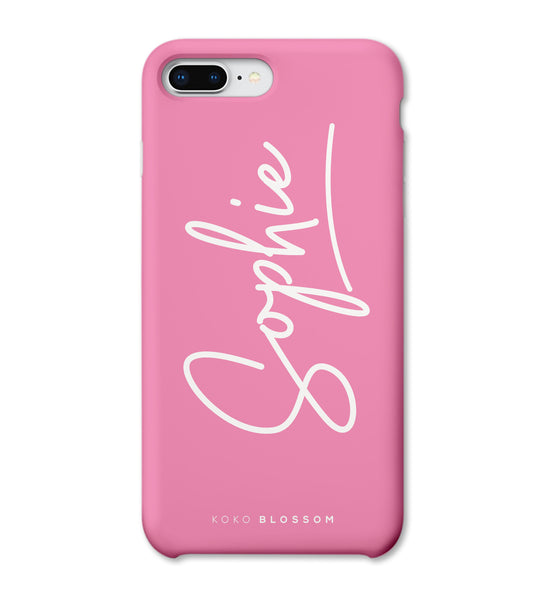 Personalised Phone Case | Pink Signature Case