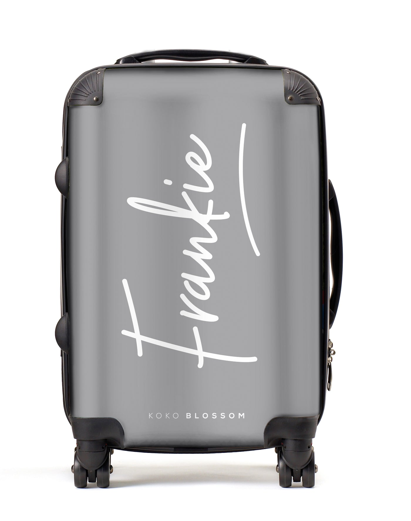 Personalised Suitcase | Signature in Pewter