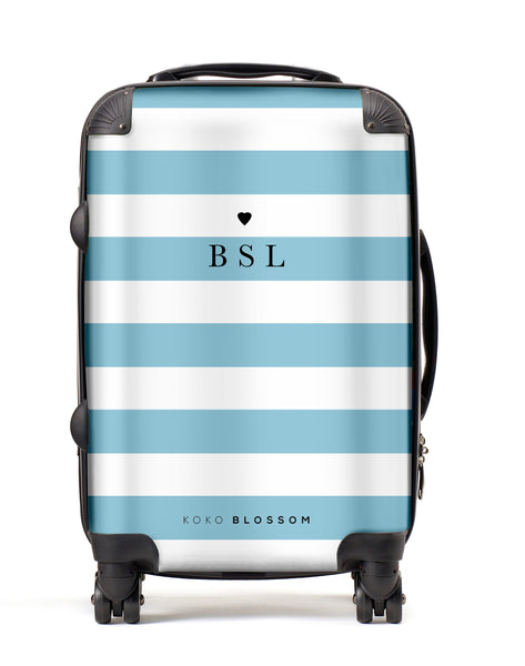 Personalised Suitcase | Laneways in Blue