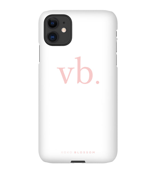 All About You Phone Case | White with Pink