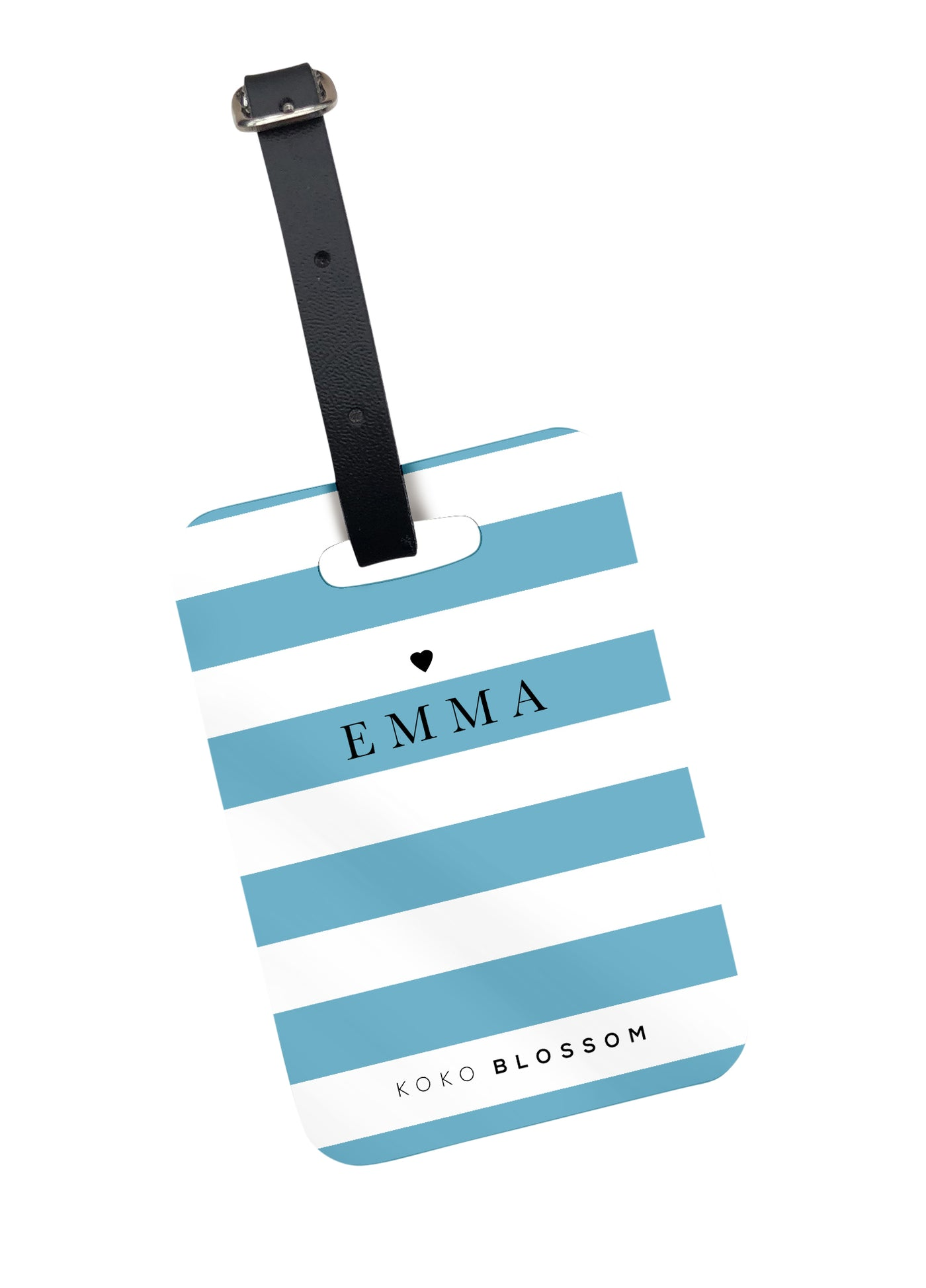 Laneways Luggage Tag in Teal