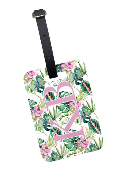Tropical Print Luggage Tag