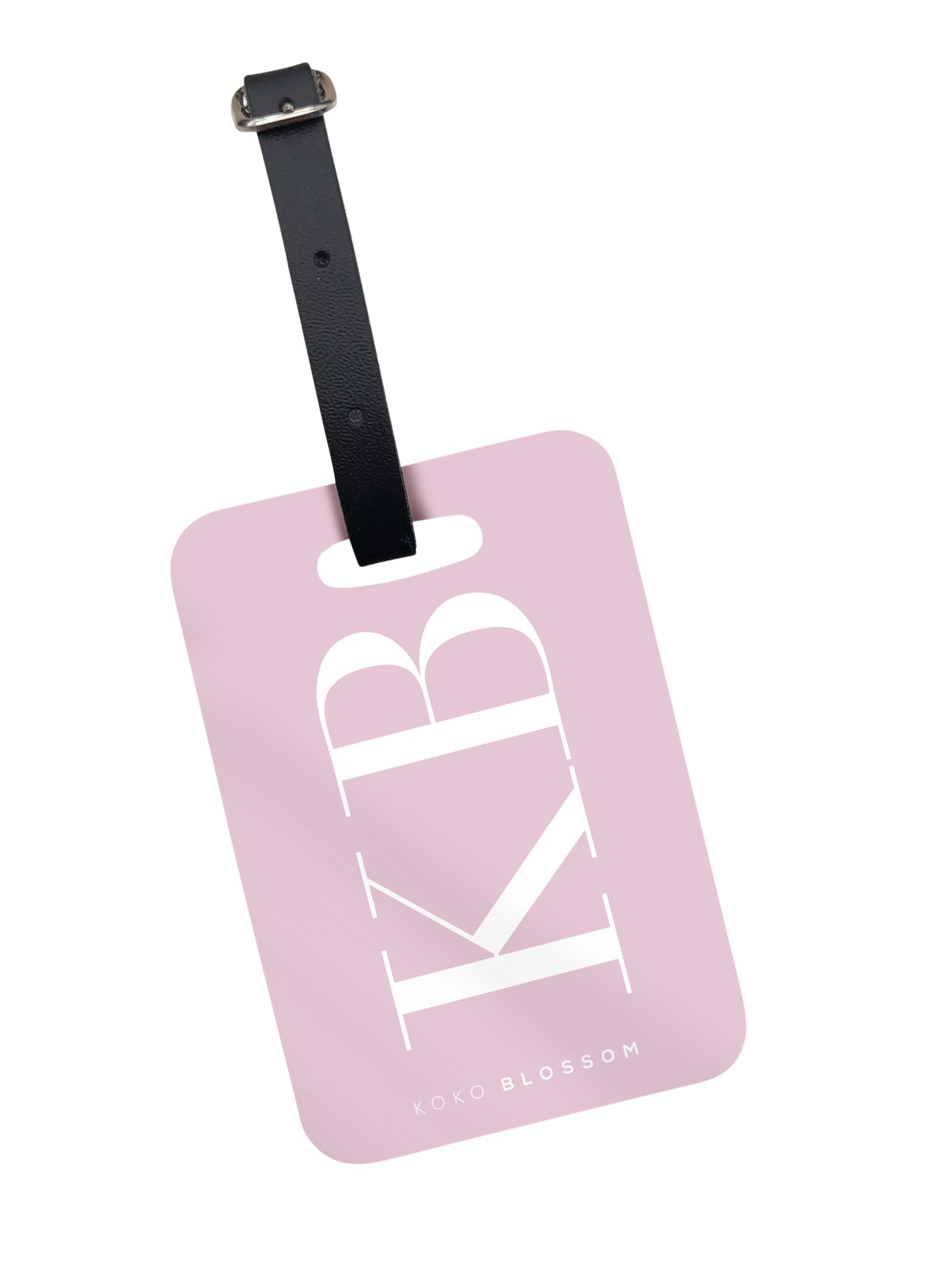 Large Initials Luggage Tag in Blush