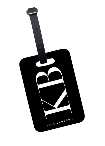 Large Initials Luggage Tag in Black