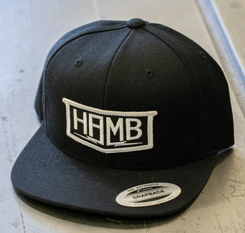 The black HAMB Patch Hat