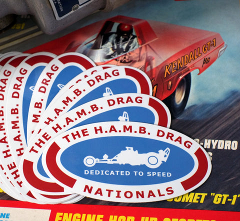 """Dedicated to Speed"" Sticker"