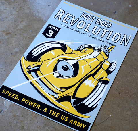 2012 Hot Rod Revolution Poster (Color)