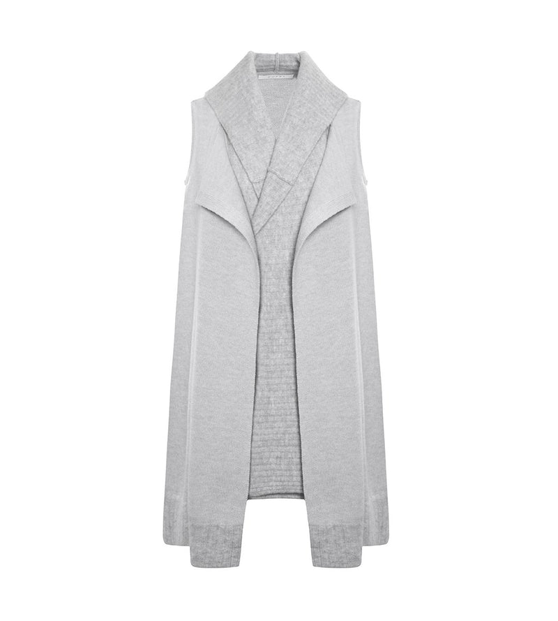 Long Gilet with Over-sized Hood
