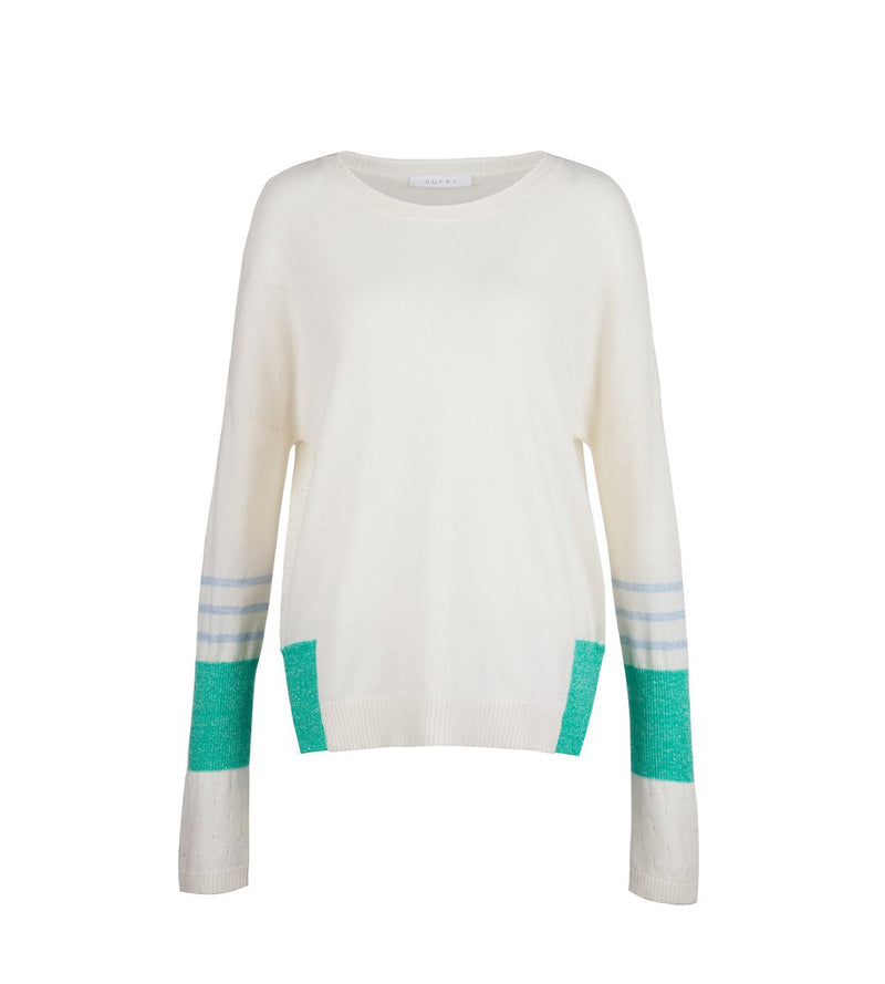 Cashmere Linen Pointelle Pullover