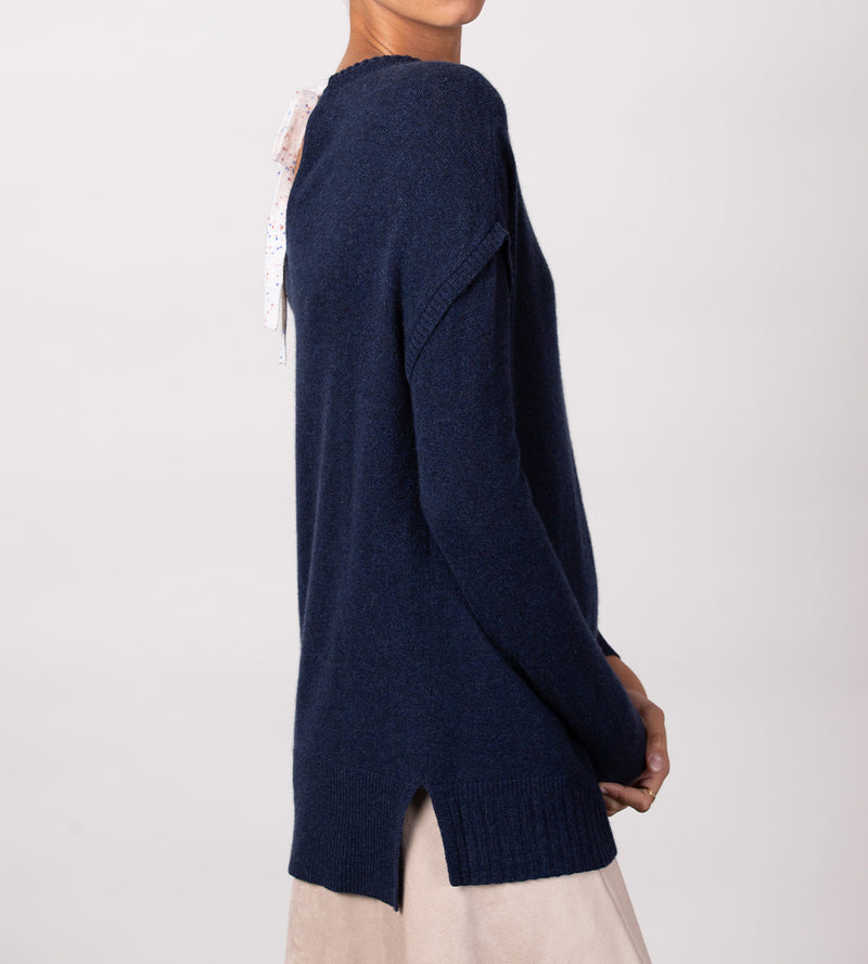 Drop Shoulder Tunic with Back Keyhole