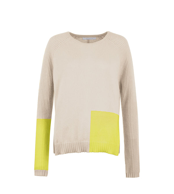 Thermal Colorblock Crew Neck
