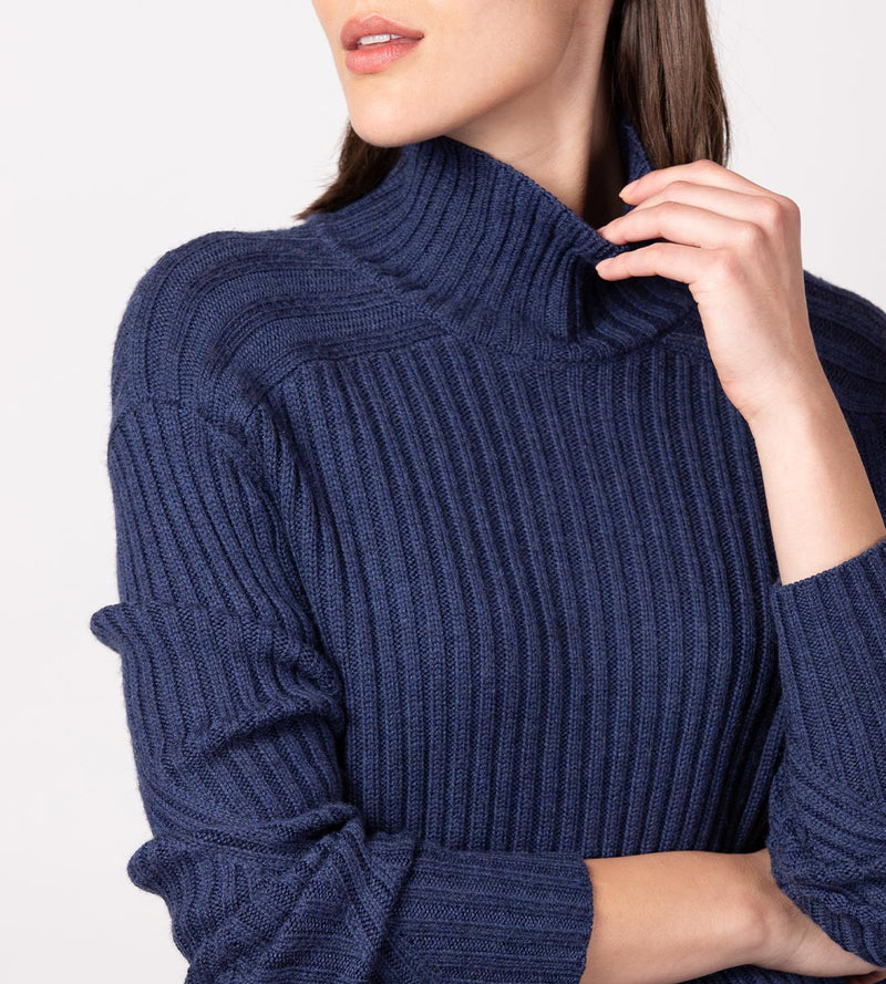 Variegated Rib Turtleneck