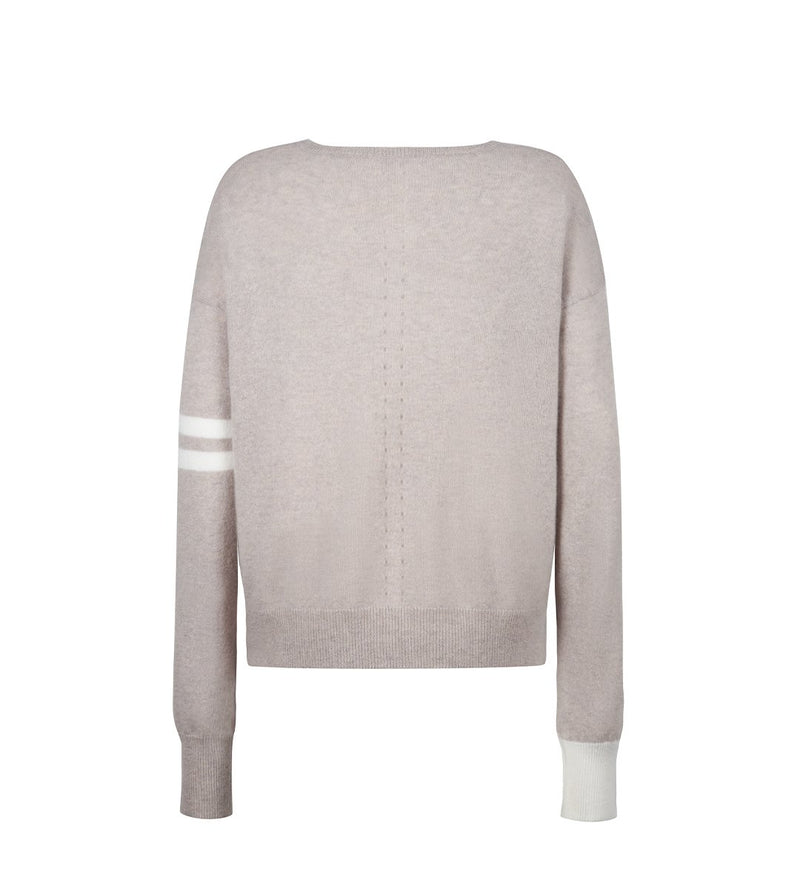 Pointelle 'NYC' Colorblock Pullover