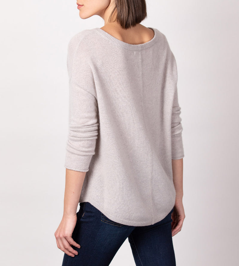 Relaxed Boatneck Pullover