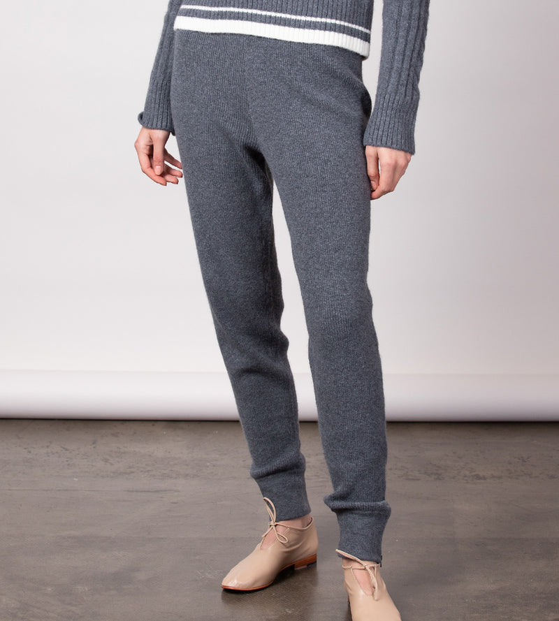Ribbed Jogger with Zip Cuffs