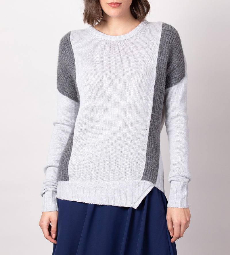 Texture Blocked Pullover