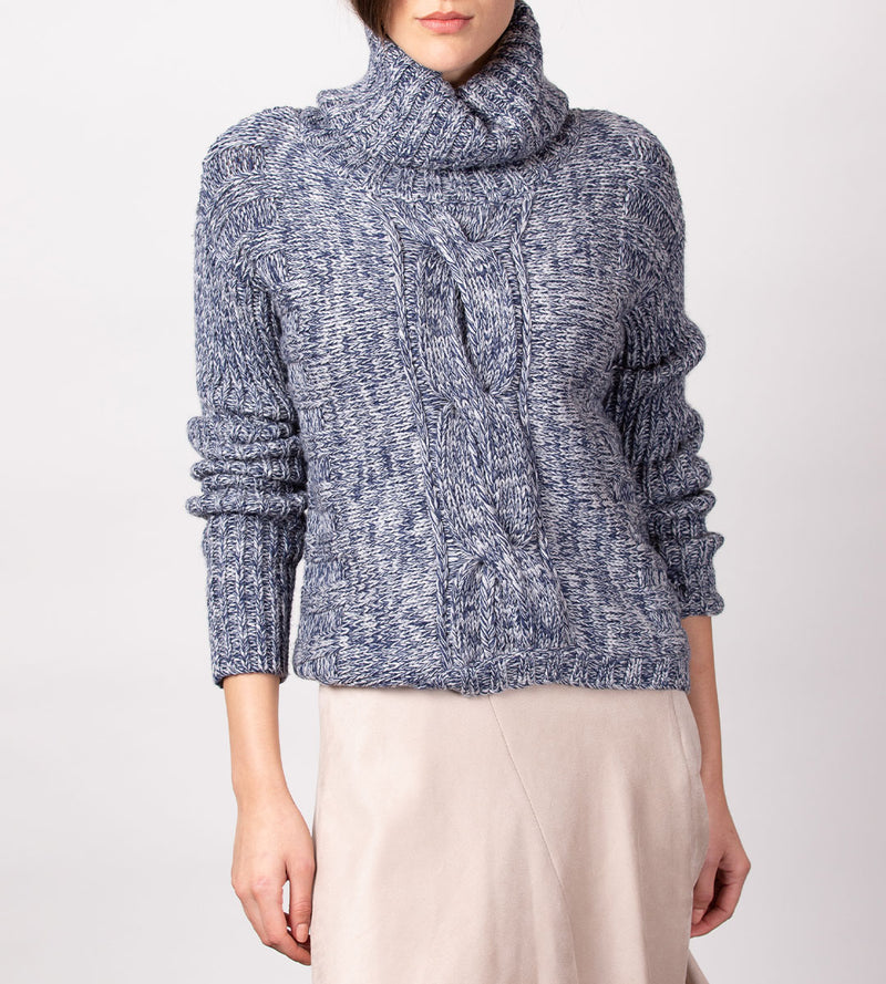 Chunky Cabled Turtleneck