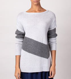 Boatneck Chevron Tunic