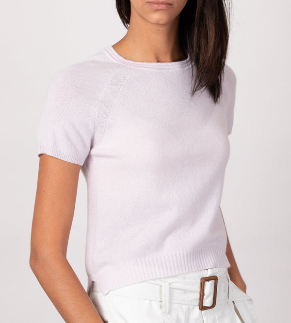 100% Cashmere Short Sleeve Top