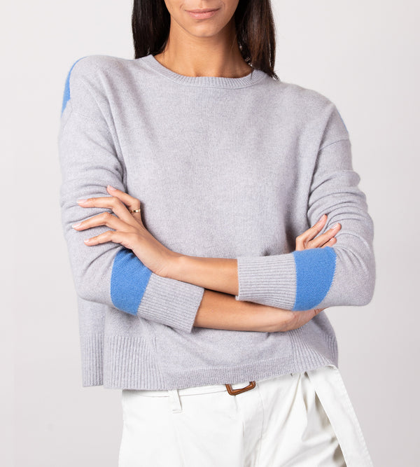 Colorblock Cropped Crew