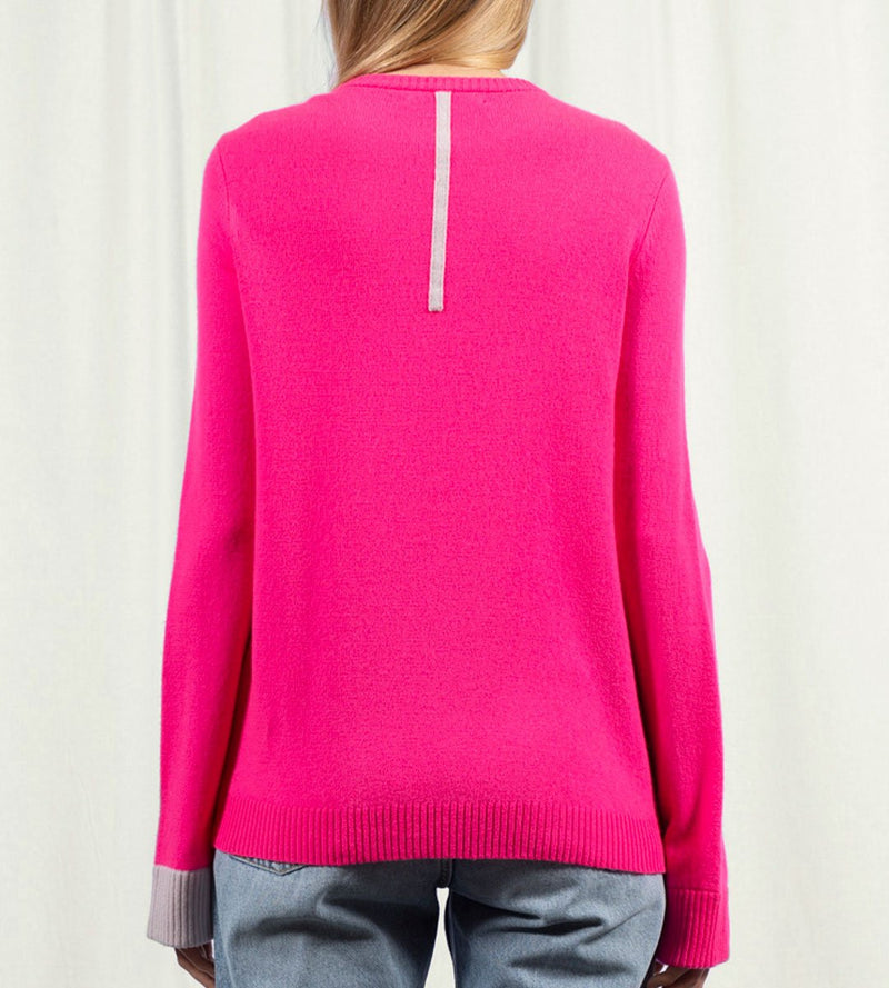 A-line Crew Neck with Colorblock Bell Sleeve
