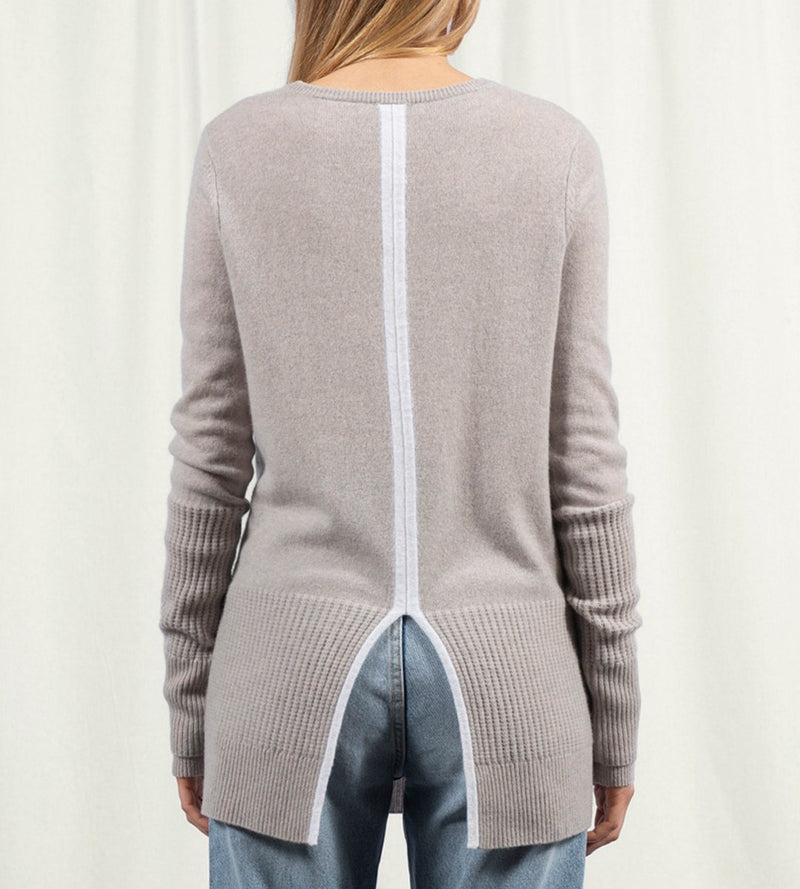V Neck Tunic with Split Back