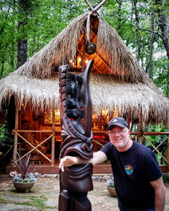 Large Wooden Tiki idols