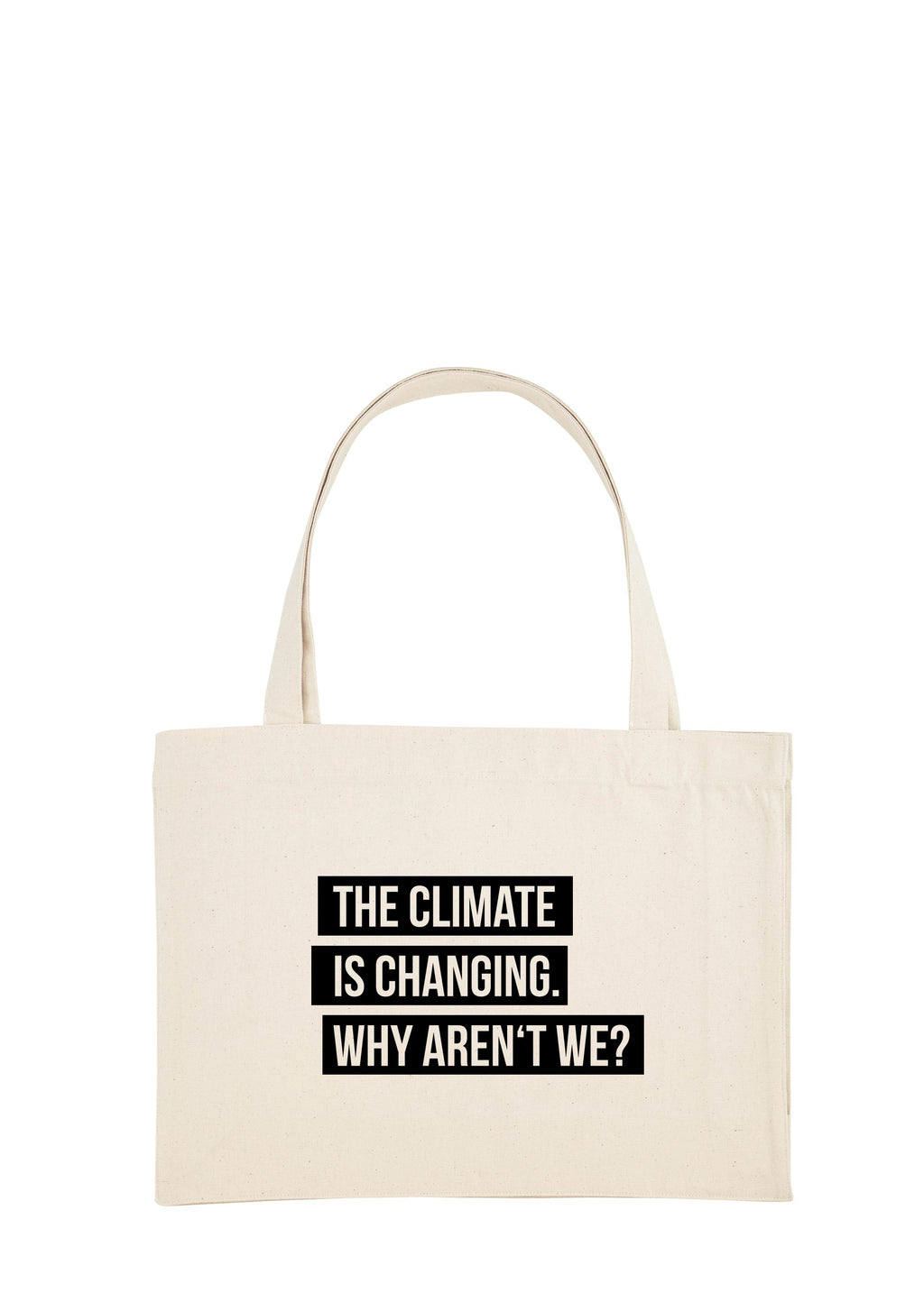 CLIMATE CHANGE SHOPPING BAG BLACK