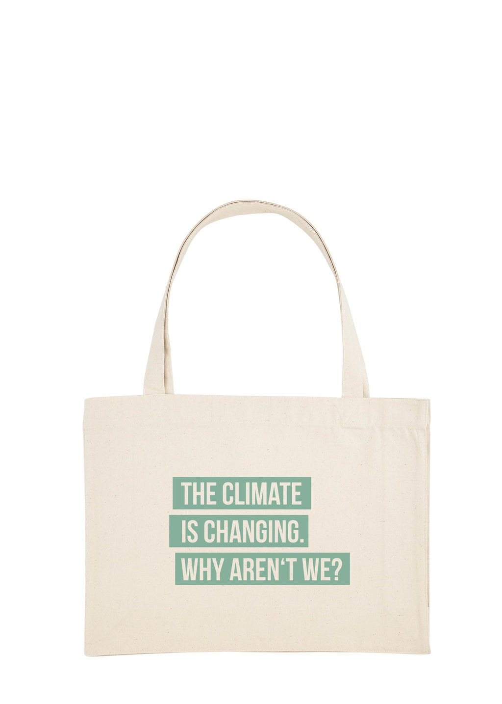 CLIMATE CHANGE SHOPPING BAG GREEN
