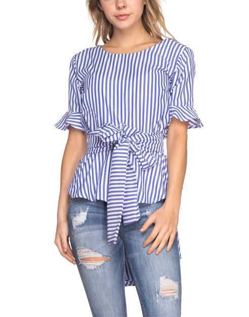 Abi Striped Top