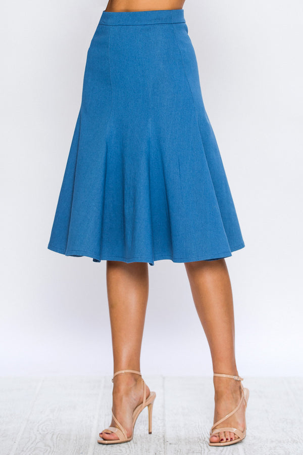 Dia fit and flare Denim skirt