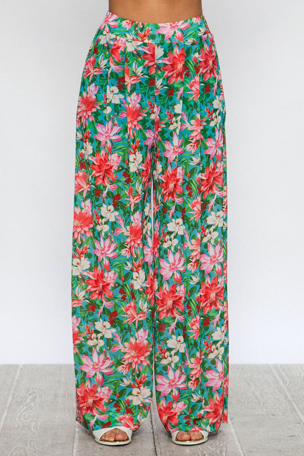 Maya wide leg printed lounge pants set